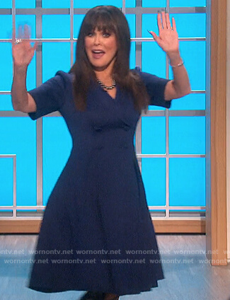 Marrie's blue double breasted blazer on The Talk