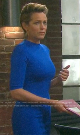 Nicole's blue dress on Days of our Lives