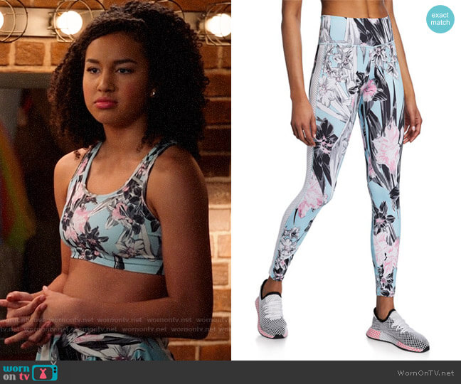 Nike All-In Floral Mesh Panel High-Rise Tights worn by Gina (Sofia Wylie) on High School Musical The Musical The Series
