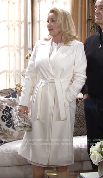 Nikki's white coat on The Young and the Restless
