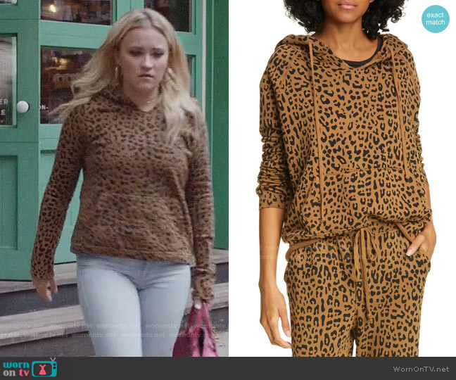 Nili Lotan Janie Leopard Print Hoodie worn by Roxy Doyle (Emily Osment) on Almost Family