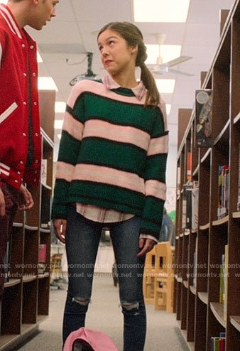 Nini's green striped sweater on High School Musical The Musical The Series