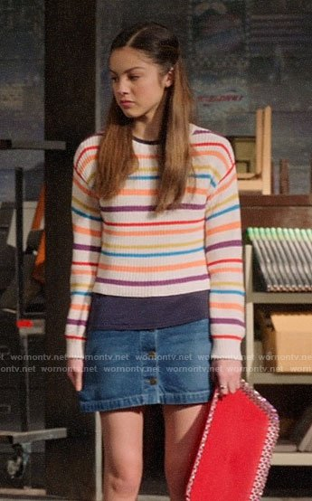 Nini's multi colored stripe sweater on High School Musical The Musical The Series