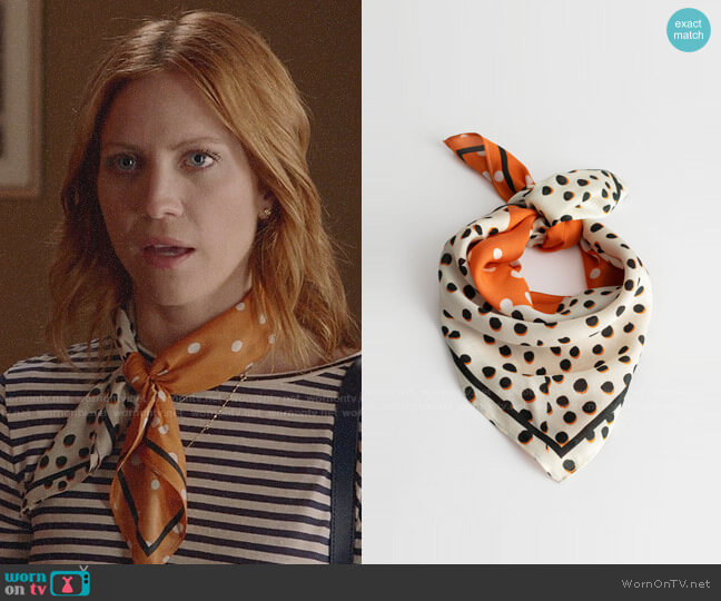 & Other Stories Polka Dot Bandana worn by Julia Bechley (Brittany Snow) on Almost Family
