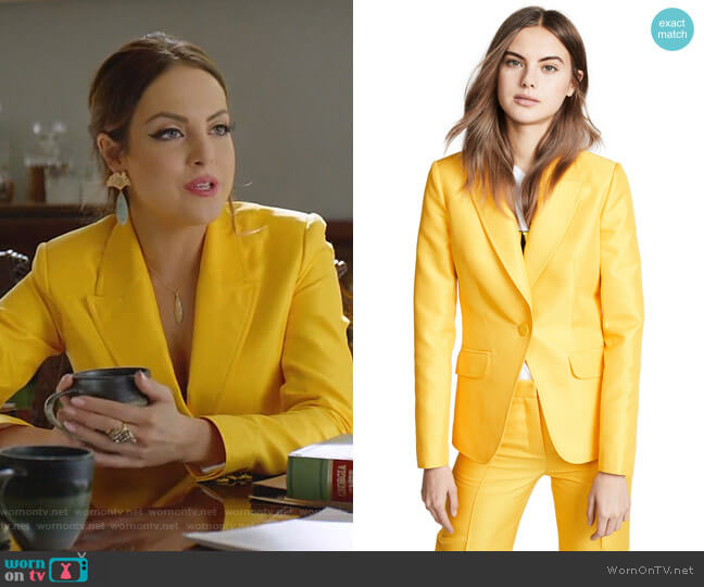Egoiste Jacket by Pallas worn by Fallon Carrington (Elizabeth Gillies) on Dynasty