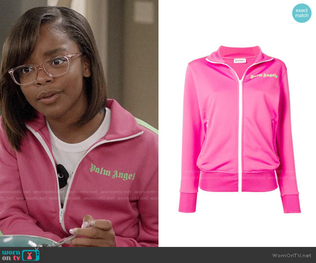 Palm Angels Jersey Track Jacket worn by Diane Johnson (Marsai Martin) on Blackish