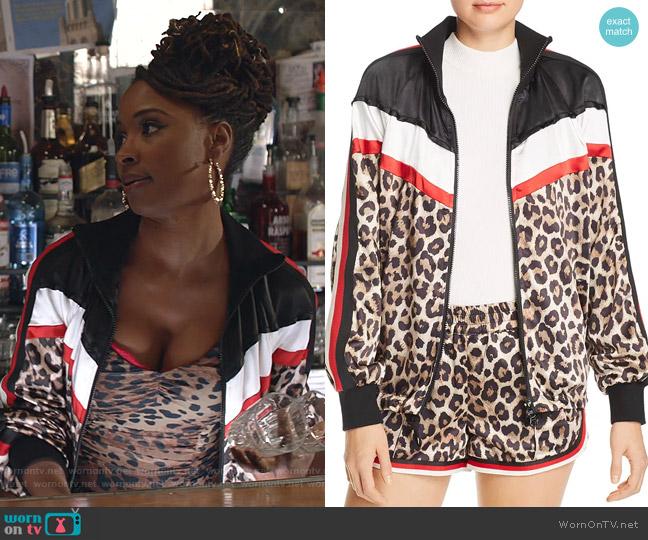 Leopard & Color-Block Jacket by Pam & Gela worn by Veronica Fisher (Shanola Hampton) on Shameless