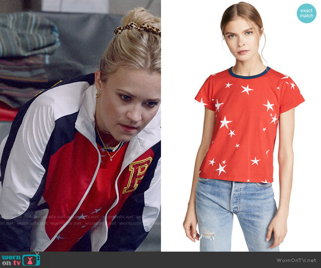 Pam & Gela Star Print Logo Crop Tee worn by Roxy Doyle (Emily Osment) on Almost Family