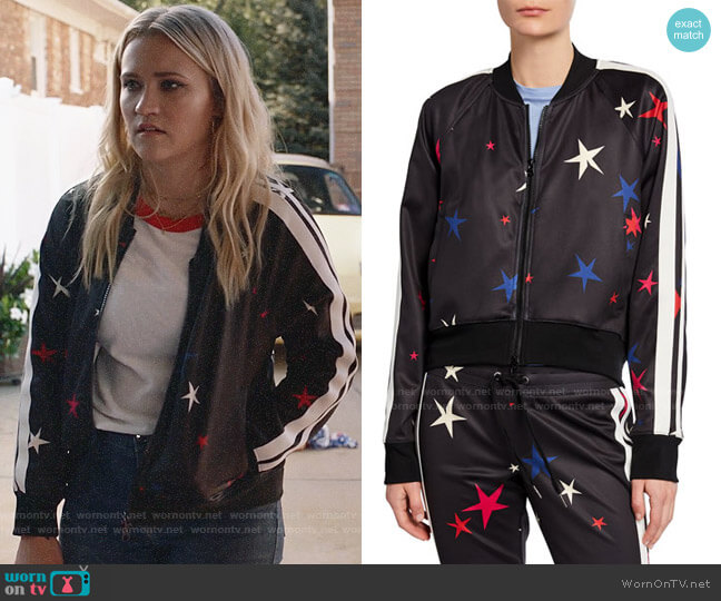 Pam & Gela Star Crop Track Jacket  worn by Roxy Doyle (Emily Osment) on Almost Family
