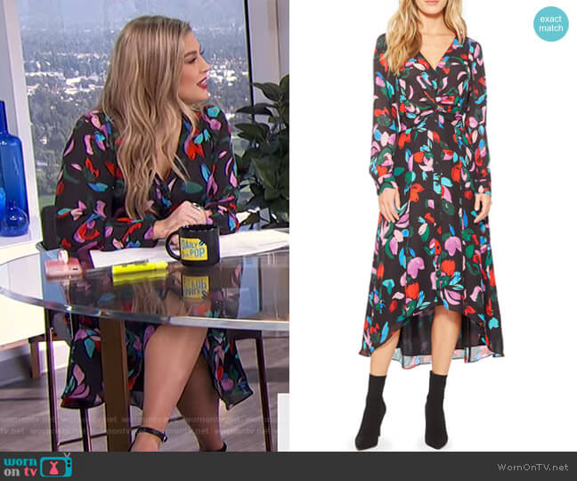 Cora Floral Print Maxi Dress by Parker worn by Carissa Loethen Culiner  on E! News