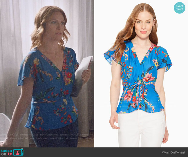 Parker Cedric Top in Zinnea worn by Julia Bechley (Brittany Snow) on Almost Family