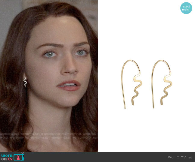Peggy Li Small Aztec Spike Earrings worn by Cara Bloom (Violett Beane) on God Friended Me