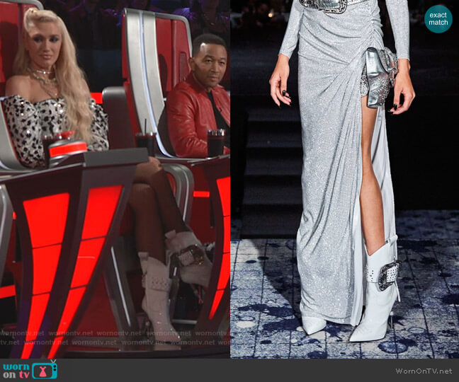 Fall 2019 Collection by Philipp Plein worn by Gwen Stefani  on The Voice