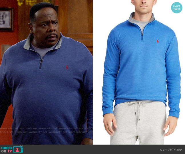 Polo Ralph Lauren Luxury Jersey Pullover worn by Calvin (Cedric The Entertainer) on The Neighborhood