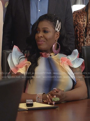 Porsha's rainbow pleated ruffle top on Empire