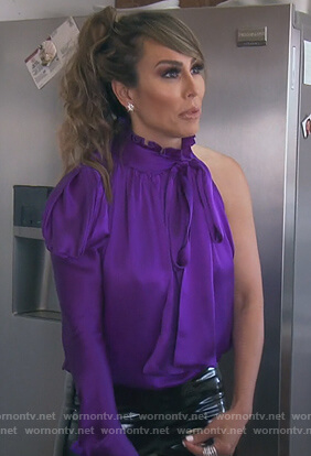 Kelly's purple one sleeve top on The Real Housewives of Orange County