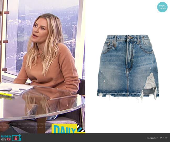 Denim Mini Skirt by R13 worn by Morgan Stewart  on E! News