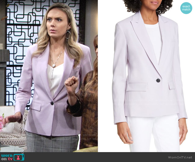 Rag & Bone Cairo Wool Single-Button Blazer worn by Abby Newman (Melissa Ordway) on The Young & the Restless