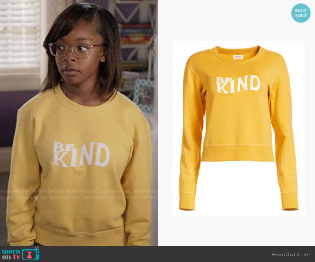 Rag & Bone Be Kind Crewneck Sweatshirt worn by Diane Johnson (Marsai Martin) on Blackish