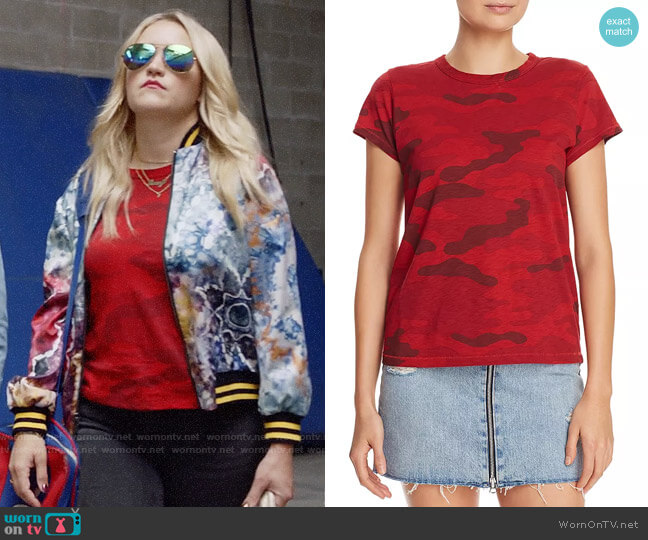 Rag & Bone Camo Tee worn by Roxy Doyle (Emily Osment) on Almost Family
