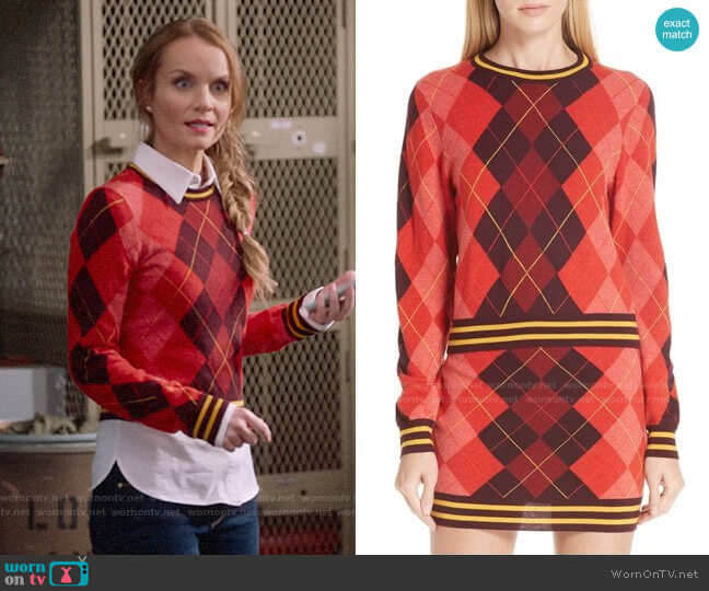 Rag & Bone Dex Sweater worn by Miss Jenn (Kate Reinders) on High School Musical The Musical The Series
