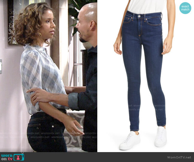 Rag & Bone Nina Jeans worn by Elena Dawson (Brytni Sarpy) on The Young & the Restless