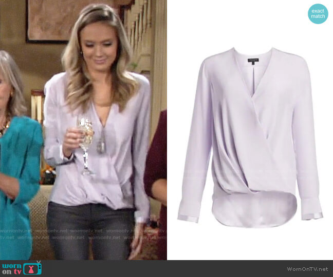 Rag & Bone Victor Lilac Blouse worn by Abby Newman (Melissa Ordway) on The Young & the Restless