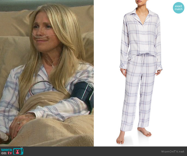 Rails Plaid Classic Pajama Set worn by Jennifer Horton (Melissa Reeves) on Days of our Lives