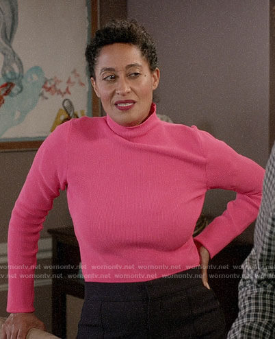 Rainbow's pink turtleneck on Black-ish