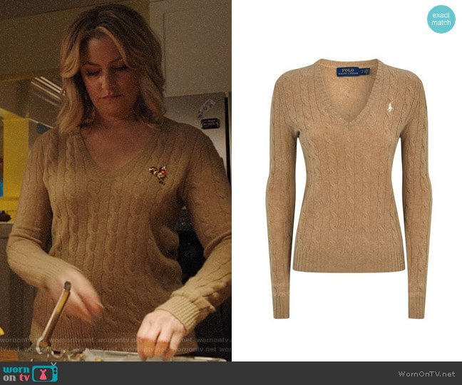 Polo Ralph Lauren Cable Wool-Cashmere Sweater worn by Alice Cooper (Mädchen Amick) on Riverdale