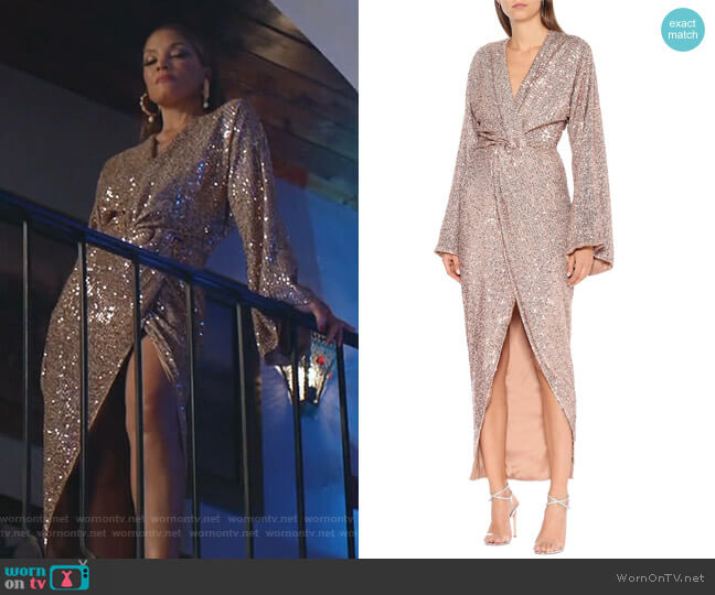 Sequined Gown by Rasario worn by Dominique Deveraux (Michael Michele) on Dynasty