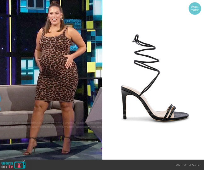 Raye Alex Sandals worn by Ashley Graham on A Little Late with Lilly Singh