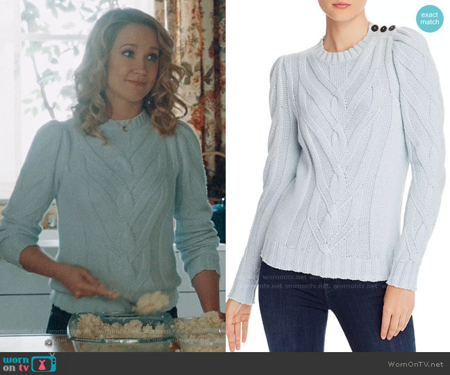 Rebecca Taylor Chevron-Cable Sweater worn by Ginny (Anna Camp) on Perfect Harmony