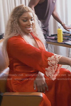 Nene's red satin robe on The Real Housewives of Atlanta