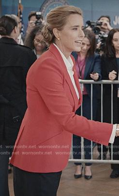 Elizabeth's red blazer on Madam Secretary