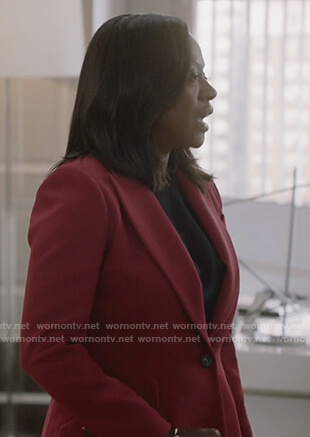 Annalise's red blazer on How to Get Away with Murder