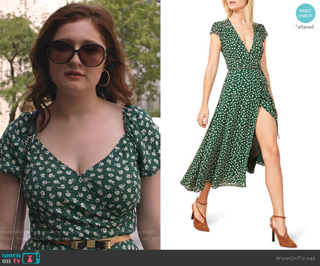 Carina Midi Dress by Reformation worn by Debbie Gallagher (Emma Kenney) on Shameless