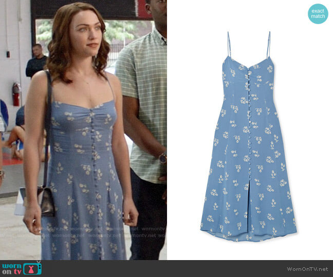 Reformation Cybill Dress worn by Cara Bloom (Violett Beane) on God Friended Me