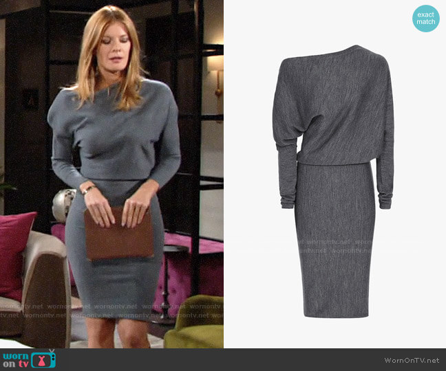 Reiss Delaney Draped Knit Dress worn by Phyllis Summers (Michelle Stafford) on The Young & the Restless