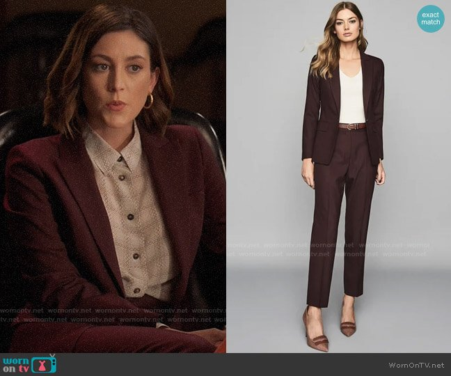 Reiss Lissia Blazer & Trousers worn by Sydney Strait (Caitlin McGee) on Bluff City Law