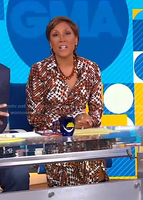 Robin's houndstooth shirtdress on Good Morning America