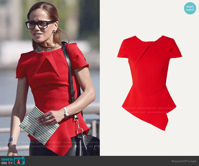 Roland Mouret Bracknell Top worn by Amanda Doherty (Victoria Cartagena) on Almost Family