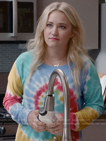 Roxy's tie dye sweatshirt on Almost Family