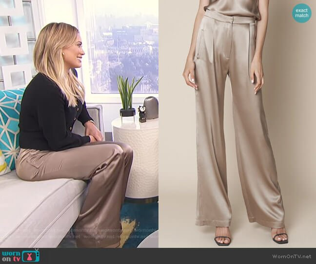 Sable Silk Pants by Sablyn worn by Hilary Duff on E! News Dailly Pop