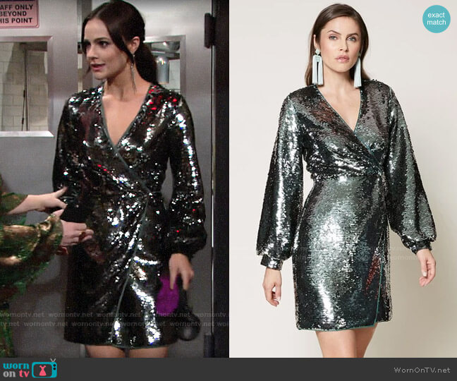 Sachin + Babi Isola Dress worn by Tessa Porter (Cait Fairbanks) on The Young & the Restless