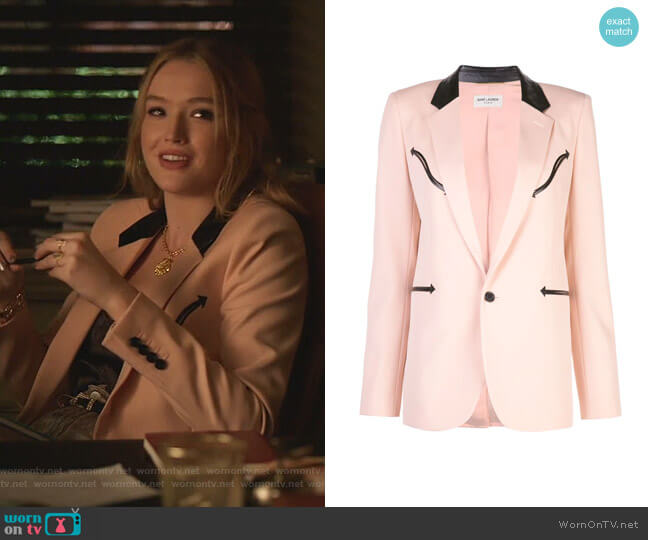 Single Breasted Blazer by Saint Laurent  worn by Kirby Anders (Maddison Brown) on Dynasty