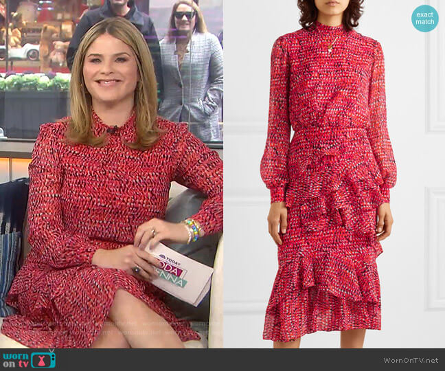 Isa Dress by Saloni worn by Jenna Bush Hager  on Today