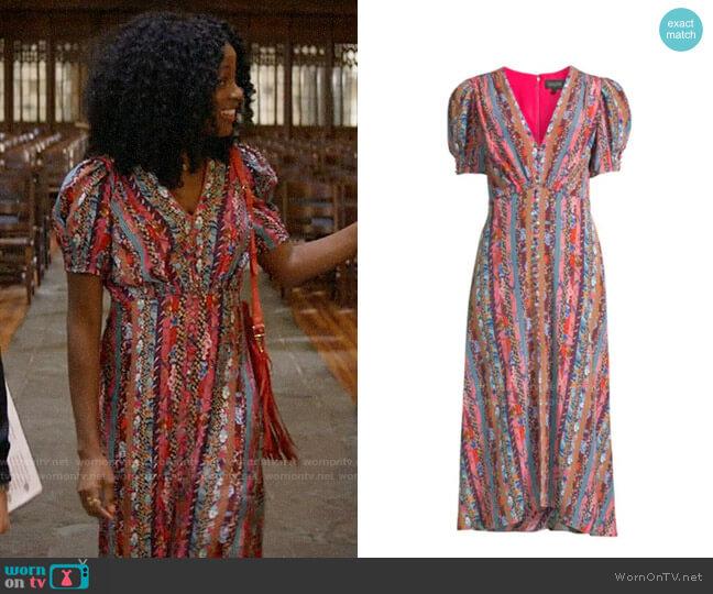 Saloni Lea Dress in Paradise Stripe worn by Ali Finer (Javicia Leslie) on God Friended Me