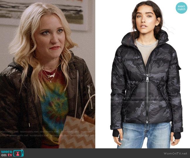 SAM. Camo Freestyle Jacket worn by Roxy Doyle (Emily Osment) on Almost Family