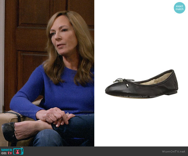 Sam Edelman Felicia Ballet Flat worn by Bonnie Plunkett (Allison Janney) on Mom